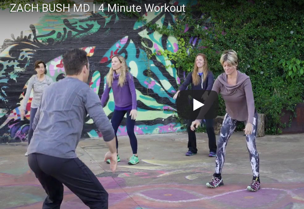Four  minute exercise to boost your health